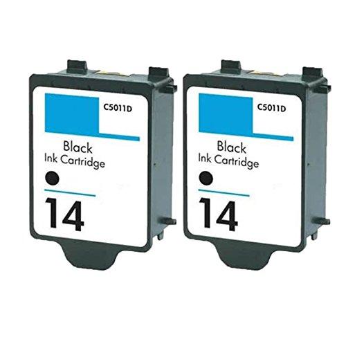 14 Black C5011an Ink - N&L Global CO. 2 PK C5011AN HP 14 Black Compatible Ink Cartridge for HP ImageClass CP1160 Officejet D135 D155 Copier 610 (Pack of 2)