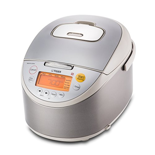 Tiger JKT-B18U-C Rice Cooker with Oatmeal Cooker, Stainless Steel Beige, 10 Cup