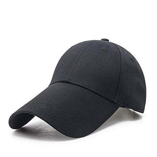 Long Bill Hat - Yizhichu1990 Men Women Plain Adjustable Baseball Cap Super Extra Long Bill Hat Strapback (Black)