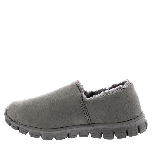 Damesschoenen Met Bonte Voering Gezellige Winter Casual Lage Schoenen Warme Sneakers Grijs