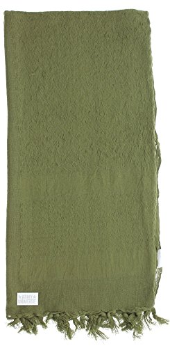 Premium Heavyweight Shemagh Scarf with ARMY UNIVERSE Pin - Solid Olive Drab