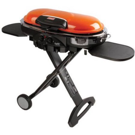- Coleman RoadTrip LXE Portable 2-Burner Propane Grill - 20,000 BTU, Orange Color