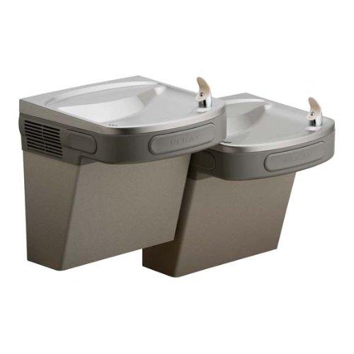 Elkay LZSTL8LC Refrigerated Drinking Fountain, Filtered, Bi-Level, 8.0 GPH Water Cooler, ADA, Light Gray Granite