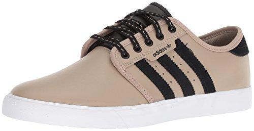 adidas Originals Men's Seeley Skate Shoe, Trace Khaki/Black/White, 9 M US