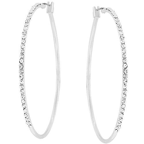 crystal hoop earrings - 7