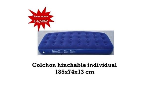JOCCA- Colchón hinchable de 1 altura, color azul: Amazon.es ...