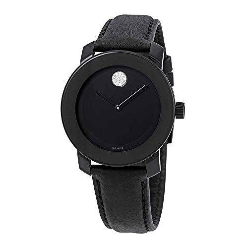 Large Watch Black Dial - Movado Bold Black Dial Ladies Watch 3600483