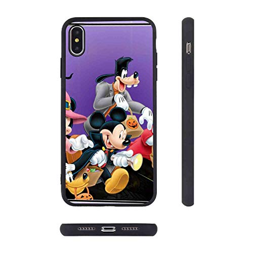 Cover Case Fits for iPhone Xs Max (2018) [6.5 Inch] Halloween Mickey Mouse and Minnie Mouse Goofy Donald Duck Pluto Disney Halloween Wallpaper]()