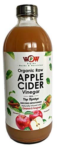 WOW ZIP – GO HERBS & NUTRITION Organic Apple Cider Vinegar Infused with Cinnamon & Fenugreek (500 ml)