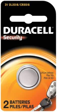 Duracell Security 2016 Batteries 2 Count