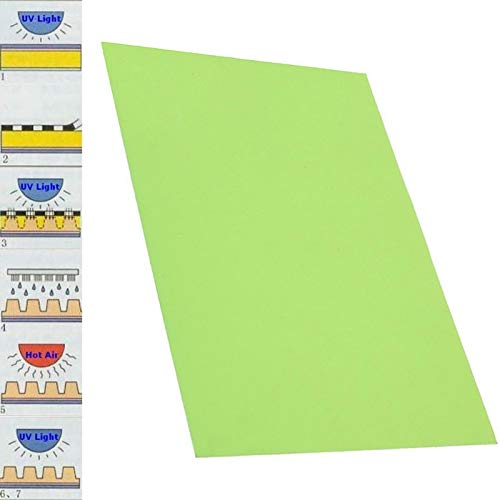 HATCHMATIC Resin Photopolymer Plate Green Rubber Stamp Plate Making Craft Letterpress Polymer Die DIY Crafts 2030cm for Printing Industry