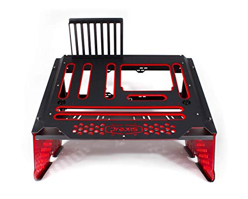 Praxis Wetbench Open Air Computer Test Bench - Black w/Solid Red Accents