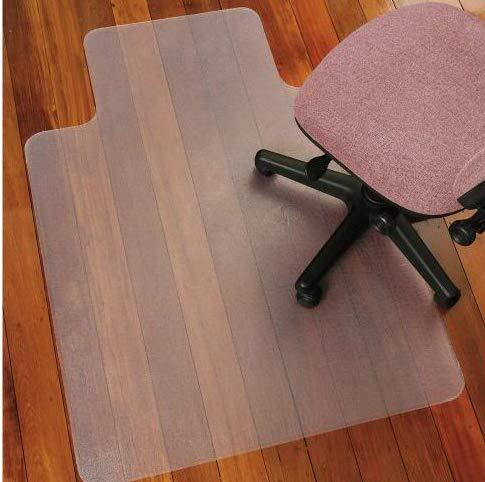 Tappetini per sedie a rotelle da ufficio per pavimenti duri, tappeto per la protezione del pavimento, rettangolare con orlo. Tappetino liscio per retro scrivania, antistatico, senza bisfenolo. Misure: 91,4x 121,9cm., Smooth Back, 90 x 120 cm 4x 121 9cm
