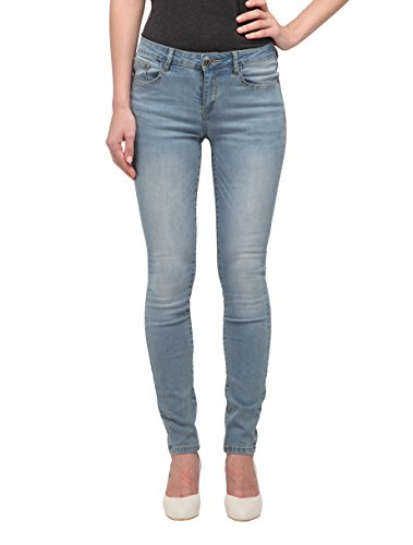 Allée Jeans Women's Light Blue Mid-Rise Skinny Jeans, Camellia (29) (Skinny Light Women Wash For Jeans)