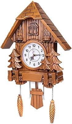UK Classic Vintage Cuckoo Clock Forest Quartz Swing Wall Alarm Handmade Decor