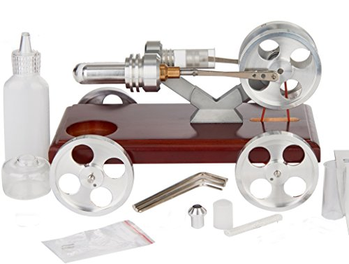 (Sunnytech Hot Air Stirling Engine Education Toy Electricity Power)