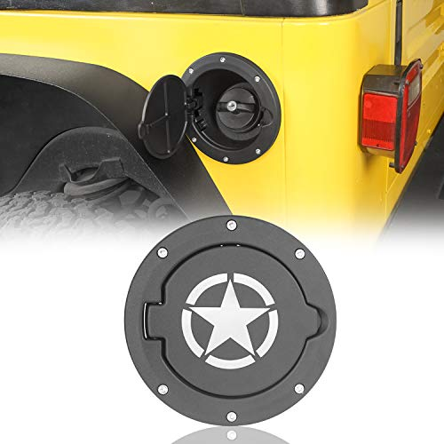 u-Box Jeep TJ Gas Cap Fuel Tank Cover w/Star Logo for 1997-2006 Jeep Wrangler TJ & LJ