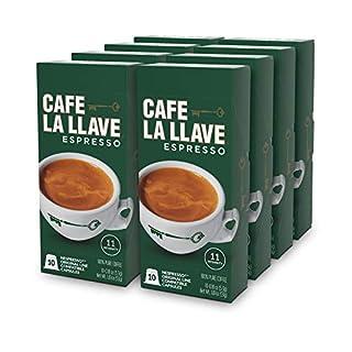 Café La Llave Espresso Capsules, Intensity 11-Recylable Coffee Pods (80 Count) Compatible with Nespresso OriginalLine Machines