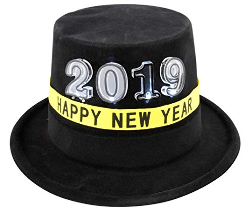 - EDS Costumes New Years Eve 2019 Party Hat Light Up top hats Party Supplies