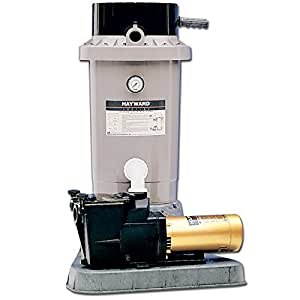 Hayward EC65 Extended Cycle DE In Ground Pool Filter System with 1 HP Pump