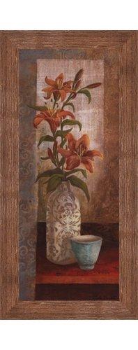 (Framed Spiced Jewels I - Mini- 8x20 Inches - Art Print (Brown Barnwood Frame))