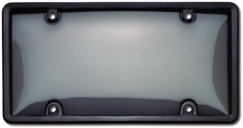 Cruiser Accessories Black//Clear 60520 Combo License Plate Shield//Cover Smoke