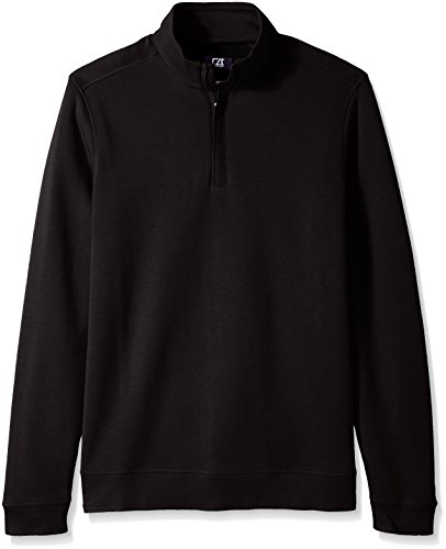 Cutter & Buck Men's Big and Tall Long Sleeve Pima Decatur Half-Zip