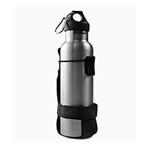 ALTTIMERY Outdoor Nylon Minimalist Tactical Molle Water Bottle Holder Kettle Pouch Belt Bottle Carrier (Black)
