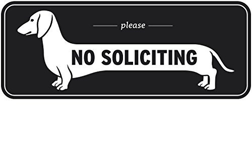 Exclusive Dachshund No Soliciting Window Sign, Do Not for sale  Delivered anywhere in USA