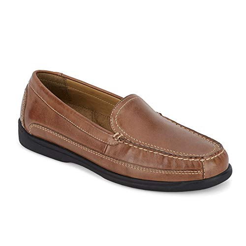 dockers Mens Catalina Leather Casual Loafer Shoe, Saddle Tan, 12 W