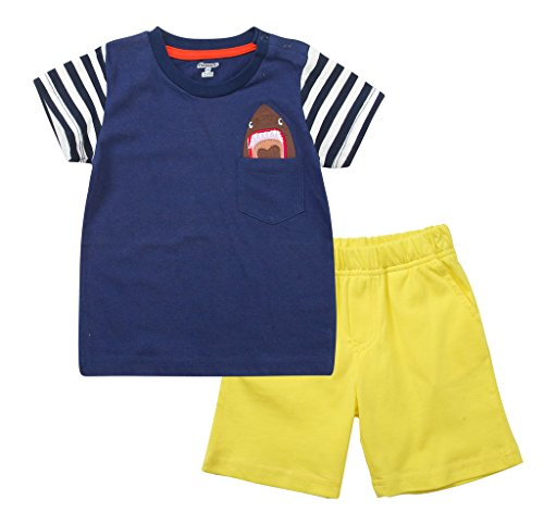 - Fiream Baby Boy's Cotton Outfits 2 Pieces Clothing Set (3T/3-4YRS, Purple)…