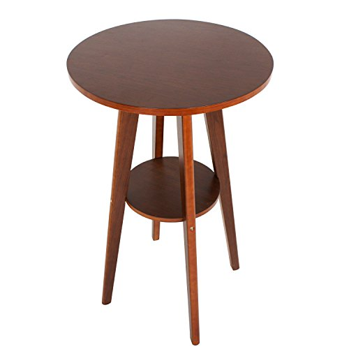 Round Weight Bar Style - Zeny Pub Bar Table Round Walnut Wood Pub Counter Indoor Kitchen Dining Breakfast Table Furniture (Table)