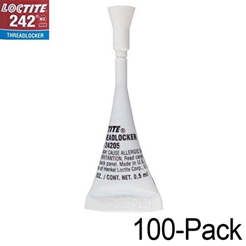 Loctite 242 Multi-Purpose Medium-Strength Threadlocker Small-Job Pack 1/2ml - 100 Pack by Loctite