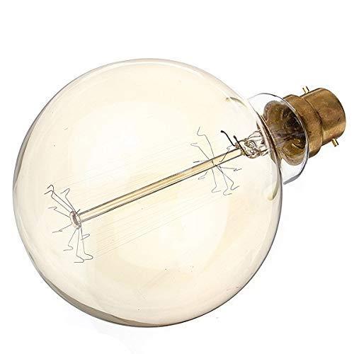 Globe125 B22 60W Large Squirrel Cage Globe 125mm B22 BC Dimmable UK Stock Vintage Edison Globe Light Bulb 60Watt