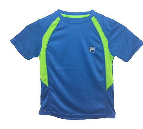 Fila Boy's B-Core Performance Active Tee Shirt QUICK DRY Electric Blue (10/12)