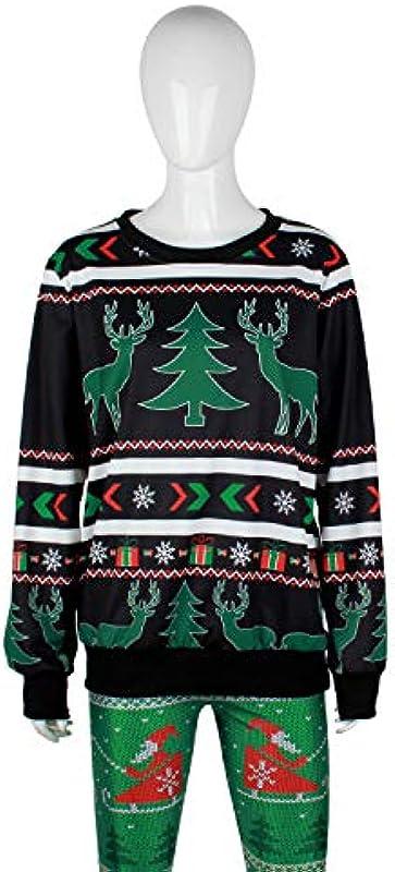 Ning Night Langarm Knit-Gewellter Pullover Rundhalsausschnitt-Lose Pullover Top Weihnachten Męskie Pullover Pullover Sweatshirt Für Herbst Und Winter,A,L: Sport & Freizeit