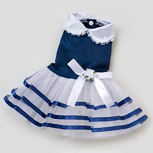 Mascotas Dress para Dog de Vestido Summer Princesa Novia L Perros Vestido la Mascotas Perros azul de Ropa Guguogo dwqX6d