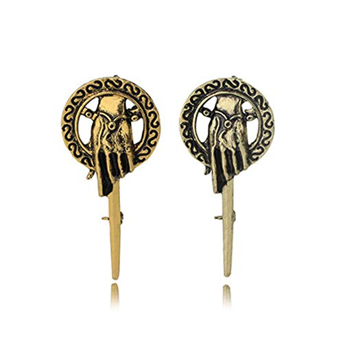 2PCS Hand of The King Brooch Pin/Hand Pin Replica Surprise Gifts for Him- Game Thrones Badge Box Rose Gift Prime Man wristwatches Professional