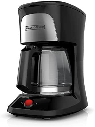 BLACK+DECKER CM0555B 5-Cup Coffeemaker, Black