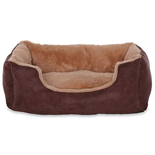 Cama perros cojín perros cesta perros con cojín tamaño (S) 50x37 cm beige/marrón