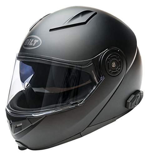 Bilt Techno 2.0 Sena Bluetooth Modular Helmet - XL - Matte Black (Best Modular Helmet With Bluetooth)