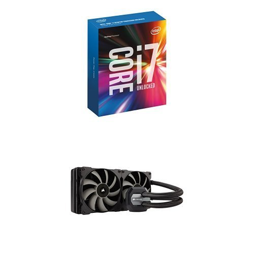 Intel Core i7-7700K Unlocked Processor 8M Cache, up to 4.50 GHz, Quad-Core Kaby Lake with Corsair Hydro Series H115i Extreme Performance Liquid CPU Cooler - Extreme Intel Series