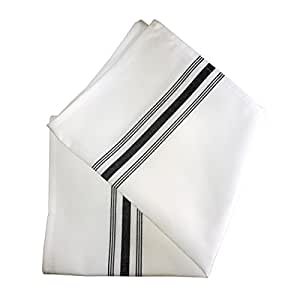 Ultimate Textile (10 Dozen) Bistro Napkins 18 x 22 Inch - Restaurant Quality Cloth, Black Stripe
