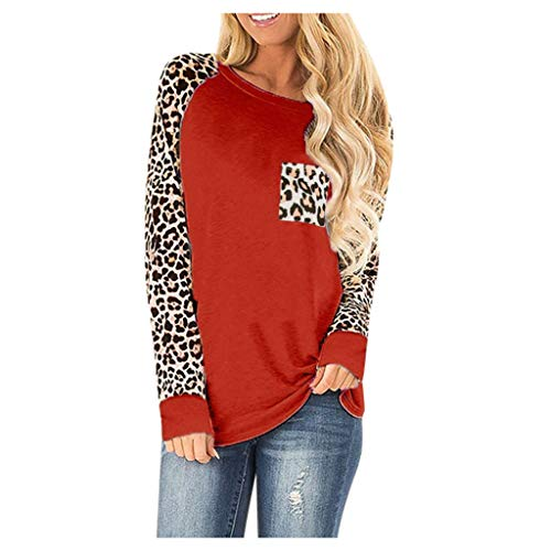 Women O-Neck Autumn Long Sleeve Cotton Leopard Loose Tops Plus Size Bloues with Side Twist Knotted Sweatshirt WEI MOLO