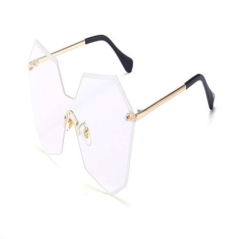 Yangjing-hl Gafas de Sol sin Marco de Moda Tendencia Gafas ...