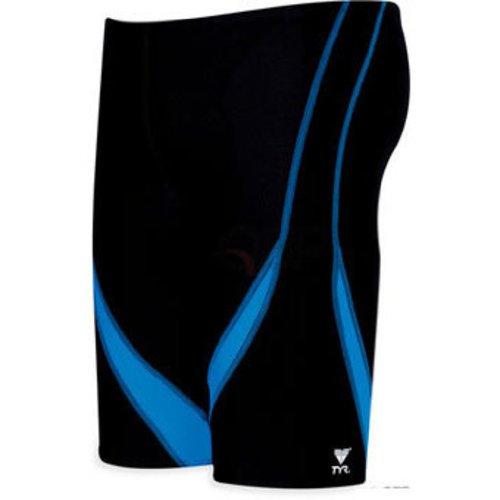 UPC 036702004558, TYR Alliance Team Splice Jammer Black/Blue Size 30