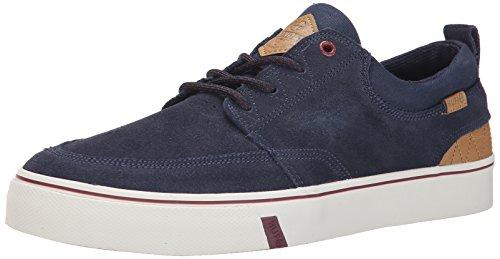 HUF Men's Ramondetta Skateboarding Shoe, Navy/Wine, 9 M US