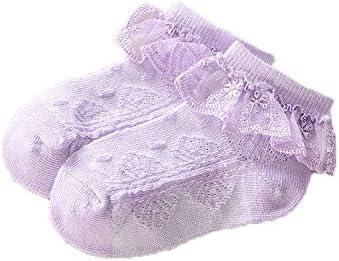 para beb/é ni/ña JT-Amigo Pack de 6 Pares Calcetines con volante de encaje