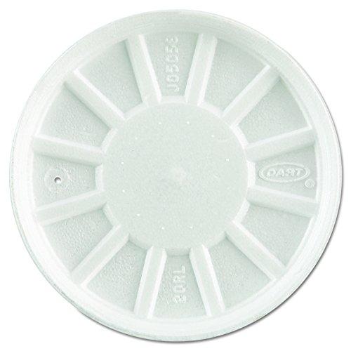 Dart 20RL Vented Foam Lids, Fits 6-32oz Cups, White (Case of 500) ()