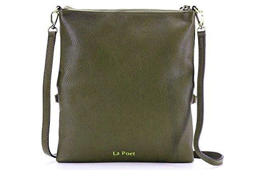 The Poet - Garnet Red Bag Woman Crossed Olive
